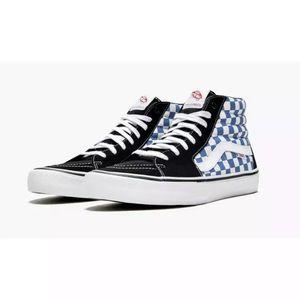 VANS Sk8-HI PRO Checkerboard Black/Blue Men's Sz10